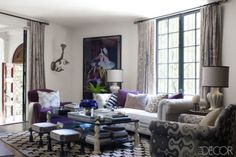 Known for dramatic interiors that meld Hollywood glamour and ethnic exotica, Martyn Lawrence Bullard doesn't just design for A-listers—Cher, Elton John, and Jimmy Choo's Tamara Mellon, to name-drop a few—he also lives like a star. For eight years, the droll Londoner, seen on Bravo's Million Dollar Decorators, has made his home in a 2,800-square-foot 1922 Mediterranean villa in Whitley Heights, one of Los Angeles's first celebrity enclaves. Previous tenants have included silent-film icons…