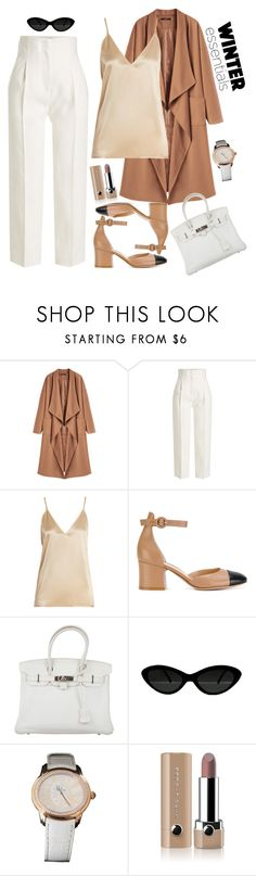 """""""Winter essentials"""" by esii-li ❤ liked on Polyvore featuring Rosetta Getty, Raey, Gianvito Rossi, Hermès, Audemars Piguet and Marc Jacobs"""