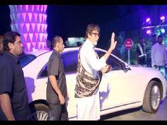 Amitabh Bachchan at Smita Thackeray's son Rahul's wedding reception.