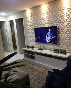 Elegant Living Room, Small Living Rooms, Home Living Room, Living Room Decor, Family Room Walls, Living Room Tv Unit Designs, Home Ceiling, Home Room Design, Apartment Interior