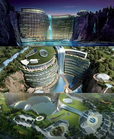 Songjiang InterContinental Hotel - built into the side of a former rock quarry just a short drive from Shanghai