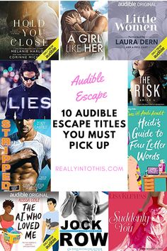 Not sure where to start with Audible Escape? Here I am sharing 10 standalone titles to jumpstart your membership. Check out these 10 Audible Escape Titles You Must Pick Up! #audiobooks #audibleescape #amreadingromance #romancereaders