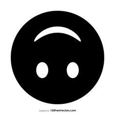 Black Upside-Down Face Emoji Vector Free Download, Free Vector Art, Vector Graphics, Cool Posters, Emoticon, App Icon, Smiley, Art Images, Clip Art