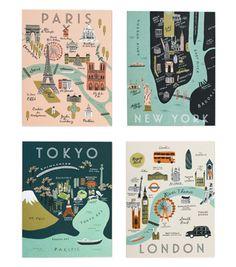 Assorted City Map Set