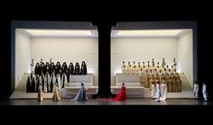 Christian Schmidt's sets for this Aida directed by Iranian visual artist Shirin Neshat will be on stage in Salzburg until August 25. Photo Monika Rittershaus