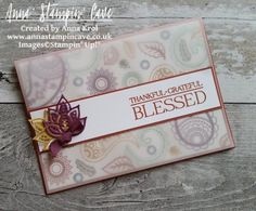 Thankful, Grateful, Blessed With Paisleys & Posies Stamp Set & Paisley…
