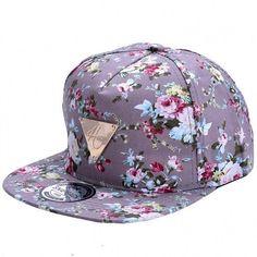 Fashion Floral Flower Snapback Hip-Hop Hat Flat Peaked Adjustable Baseball  Cap 873c1d3952f