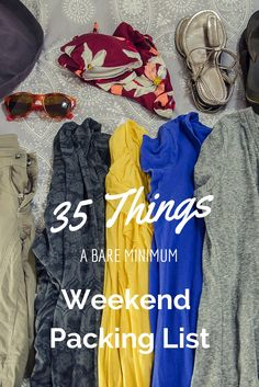 Never overpack again! Pin to save this list of weekend travel essentials: http://www.everintransit.com/weekend-packing-list/