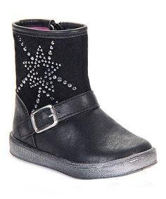 Another great find on #zulily! Black Star Stud Boot #zulilyfinds