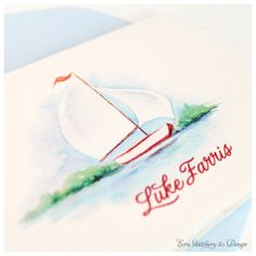 Watercolor Sailboat Stationery by ECRU Stationery & Design