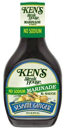 Ken's No Sodium Sesame Ginger Marinade was inspired by our original steakhouse recipe. Sodium Free Recipes, Salt Free Recipes, No Sodium Foods, Low Sodium Diet, Low Sodium Meals, Heart Healthy Diet, Heart Healthy Recipes, Salt Free Seasoning, Renal Diet