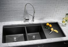 Exceptional Kitchen Remodeling Choosing a New Kitchen Sink Ideas. Marvelous Kitchen Remodeling Choosing a New Kitchen Sink Ideas. Modern Kitchen Sinks, Kitchen Redo, Kitchen And Bath, New Kitchen, Kitchen Faucets, Kitchen Ideas, Kitchen Sink Ideas Undermount, Black Undermount Sink, Bathroom Faucets