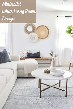 Coming home to an uncomplicated white living room decor scheme can bring you peace and serenity after a day away in a world that is visually cluttered with an endless confusion of color. . #whitelivingroom #interior #interiordesign #livingroom #homedecor #livingroominspo #livingroomdecor #home #livingroomideas #whitedecor #whiteliving #livingroomgoals #livingroomview #livingrooms #livingroominspiration #livingroomstyling #livingroomidea #greylivingroom #livingroomsofinstagram… Modern Coastal Decor, Living Room Inspiration, Minimalist Living Room, Room Inspiration, Living Room Design Inspiration, Living Room Designs, Coastal Living Room, Room Design, White Living Room Decor