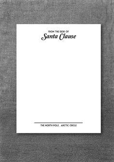 Santa's Letterhead!  $1 Instant download .pdf Merry Christmas from Montauk!