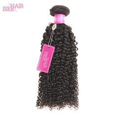 ISEE Peruvian Virgin Hair Kinky Curly Unprocessed Human Hair Weave Bundles 10-26Inch Free Shipping Machine Double Weft