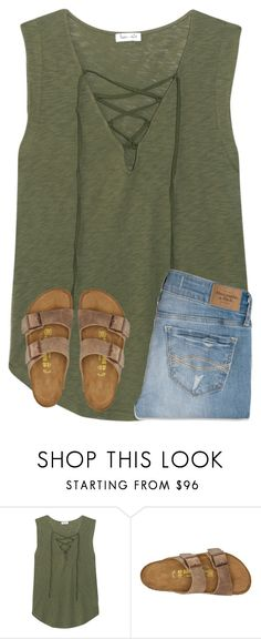 """""""got out early from school"""" by ponyboysgirlfriend ❤ liked on Polyvore featuring Splendid, Birkenstock and Abercrombie & Fitch"""
