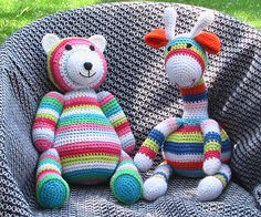 Crafty Fox Crochet: Striped Teddy and Giraffe!