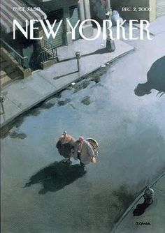 Cover art from by Michael Sowa on the cover of the December 2nd 2002 New Yorker Edition New Yorker Covers, The New Yorker, Go To New York, Movie Poster Art, Michael Sowa, Michael Crichton, Vintage Magazines, Vintage Photos, Magazine Covers