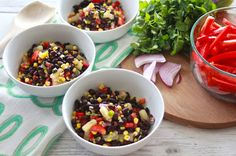 The Lavender Apple: Honey Cilantro Black Bean Salad
