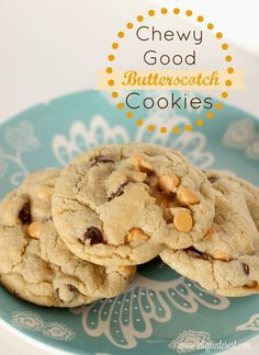 I Dig Pinterest: Chewy Good Butterscotch Chocolate Chip Cookies