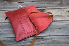 Leather Tobacco Case / Cigarette pouch / simple by FeralEmpire