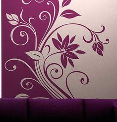 Simple Wall Paintings, Creative Wall Painting, Wall Painting Decor, Wall Decor, Staircase Glass Design, Window Glass Design, Stencil Wall Art, 3d Wall Art, Wall Murals