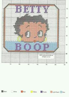 Betty Boop Face Wall Hanging Pattern