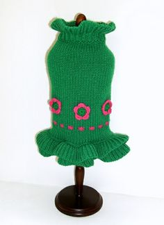 """Fleur Rose Dog Sweater Dress  Your girl will look adorable in this Fleur Rose sweater dress. Perfect for any occasion. They are 100% acrylic and comes in sizes 6""""-16"""".   Read more at http://www.collarplanetonline.com/servlet/the-5698/Fleur-Rose-Dog-Sweater/Detail#CSr4pW658ZIeuEUs.99"""