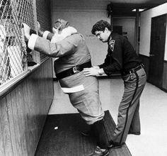 Santa Claus  Arrested  Vintage  black and white