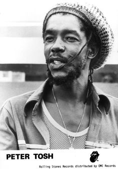 *Peter Tosh* Read more on the best blog: http://midnightraverblog.com/2014/10/peter-tosh-press-photos/ More fantastic pictures and videos of *The Wailers* on: https://de.pinterest.com/ReggaeHeart/