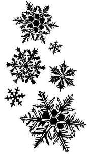 *Tim Holtz Rubber Stamp FLURRIES Snowflakes Stampers Anonymous K3-1372