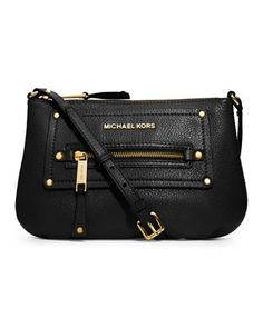MICHAEL Michael Kors Gilmore Pebbled Crossbody from Michael Kors. Shop more products from Michael Kors on Wanelo. Carteras Michael Kors, How To Become Pretty, Cute Work Outfits, Fashion And Beauty Tips, Signature Look, Crazy Shoes, Bago, Boat Shoes, Bag Accessories