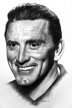 Kirk Douglas by pbradyart, via Flickr