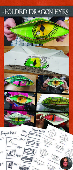 Kids love to be able to open and close these origami dragon eyes!