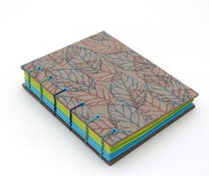 the front cover - handmade coptic stitch book by Ruth Blea… | Flickr