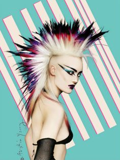 rock punk rocks, my hairstyle back in the late awww the memories. 80s Punk, Punk Goth, Punk Makeup, Hair Makeup, Makeup Style, Punk Mohawk, Mode Punk, Punk Rock Girls, Rock Hairstyles