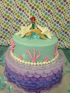 Blakely turns 3 Under the Sea with Mermaids | CatchMyParty.com