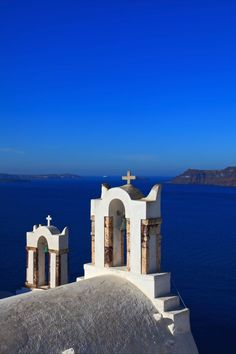 Bell Towers in Oia, Santorini