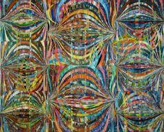 "MARK OTTENS, UNTITLED (Waves), Acrylic on Panel, 8 x 10"""