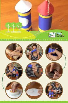 Cohete de juguete con materiales reutilizados, para ver el paso a paso ingresa en: https://www.youtube.com/watch?v=5hDSNEM5ktU