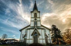 Kirke i Lillesand. Norway