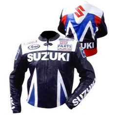 Sports Hump Suzuki Motorcycle Biker Leather Jacket  #Leather Jacket; #Men Leather Jacket; #Biker Leather Jacket; #Fashion; #Motorcycle Leather Jacket; #Handmade; Uk; Usa; Canada;