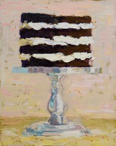 """Paul Ferney cake painting from the """"Let Them Eat Cake"""" series"""