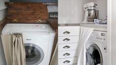 """15+3 έξυπνες ιδέες για να """"κρύψετε"""" το πλυντήριο σας – Θα απελευθερώσετε αρκετό χώρο Washing Machine, Home Appliances, Cleaning, Tips, Bath, Room, House Appliances, Bedroom, Bathing"""