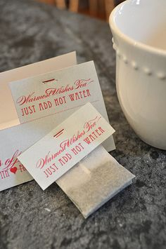 DIY warmest wishes tea gift for brides, friends and coworkers or teachers!