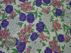 Beautiful Vintage Full Feedsack Purple Tulips by auntnonniesnest Small Pink Flowers, Purple Tulips, Feed Sacks, Vintage Fabrics, Floral, Projects, Pattern, Prints, Painting