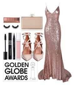 """""""60 Second Style: Golden Globes"""" by fabubilous ❤ liked on Polyvore featuring Valentino, Judith Leiber, shu uemura, Gucci, Christian Dior, Urban Decay and vintage"""