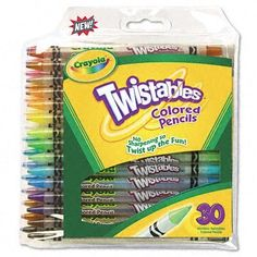 Crayola 68-7409: Twistables ® Colored Pencils, 30-Pack by Crayola. $13.12. Crayola Twistables Retractable Colored Pencils
