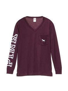 Campus Long Sleeve V-Neck Tee