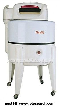 """1942 - A wringer washing machine made life so much easier;  Monday was usually """"wash day."""""""